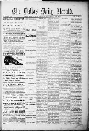 Primary view of object titled 'The Dallas Daily Herald. (Dallas, Tex.), Vol. 4, No. 156, Ed. 1 Thursday, August 10, 1876'.