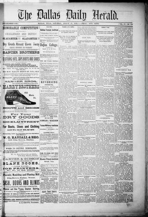 Primary view of object titled 'The Dallas Daily Herald. (Dallas, Tex.), Vol. 4, No. 158, Ed. 1 Saturday, August 12, 1876'.