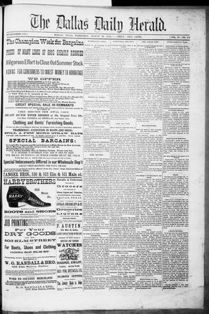 Primary view of The Dallas Daily Herald. (Dallas, Tex.), Vol. 4, No. 173, Ed. 1 Wednesday, August 30, 1876