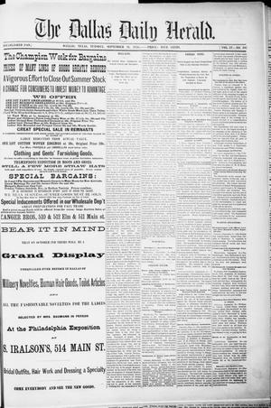 Primary view of object titled 'The Dallas Daily Herald. (Dallas, Tex.), Vol. 4, No. 197, Ed. 1 Tuesday, September 26, 1876'.