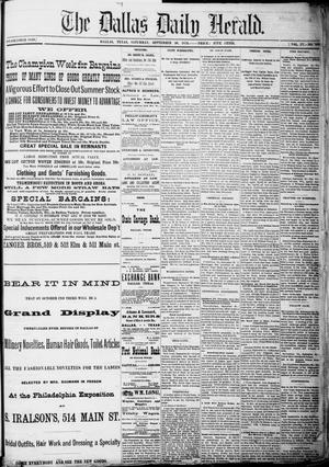 Primary view of object titled 'The Dallas Daily Herald. (Dallas, Tex.), Vol. 4, No. 201, Ed. 1 Saturday, September 30, 1876'.
