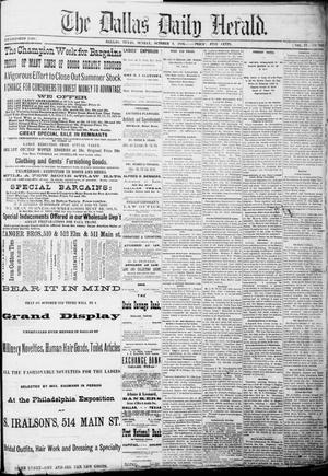 Primary view of object titled 'The Dallas Daily Herald. (Dallas, Tex.), Vol. 4, No. 202, Ed. 1 Sunday, October 1, 1876'.