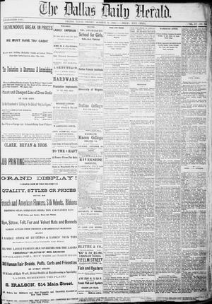 Primary view of object titled 'The Dallas Daily Herald. (Dallas, Tex.), Vol. 4, No. 206, Ed. 1 Friday, October 6, 1876'.