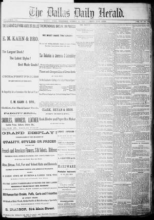 Primary view of object titled 'The Dallas Daily Herald. (Dallas, Tex.), Vol. 4, No. 210, Ed. 1 Wednesday, October 11, 1876'.