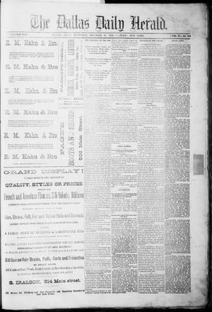 Primary view of object titled 'The Dallas Daily Herald. (Dallas, Tex.), Vol. 4, No. 220, Ed. 1 Wednesday, November 15, 1876'.