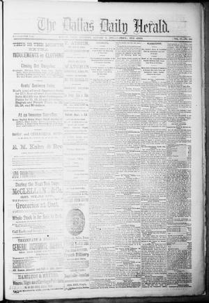 Primary view of object titled 'The Dallas Daily Herald. (Dallas, Tex.), Vol. 4, No. 265, Ed. 1 Saturday, January 6, 1877'.
