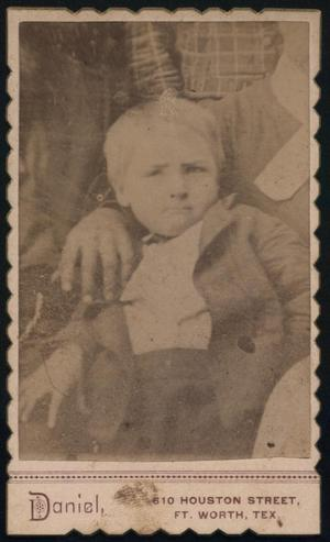 Primary view of object titled '[Unidentified Young Boy]'.