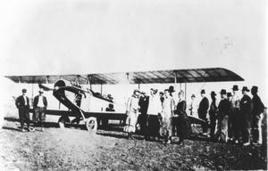Primary view of object titled 'Airplane from Camp Bowie that Landed in Grapevine'.