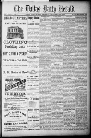 Primary view of The Dallas Daily Herald. (Dallas, Tex.), Vol. 5, No. 179, Ed. 1 Thursday, December 27, 1877