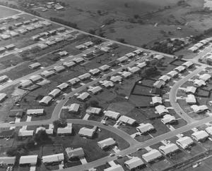 Primary view of object titled 'Aerial View of Houses in Watauga'.