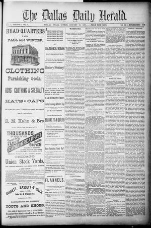 Primary view of object titled 'The Dallas Daily Herald. (Dallas, Tex.), Vol. 5, No. 193, Ed. 1 Sunday, January 13, 1878'.