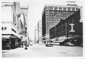 Primary view of object titled 'Looking North on Main Street in Fort Worth Around 1950'.
