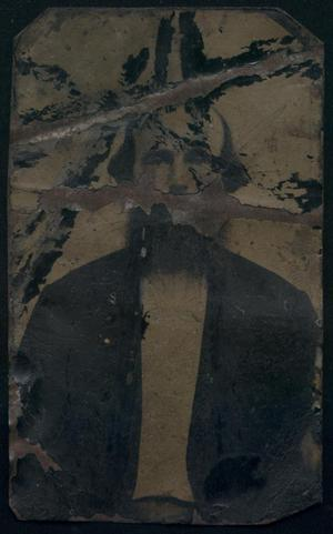 Primary view of object titled '[Damaged Photograph of Man]'.