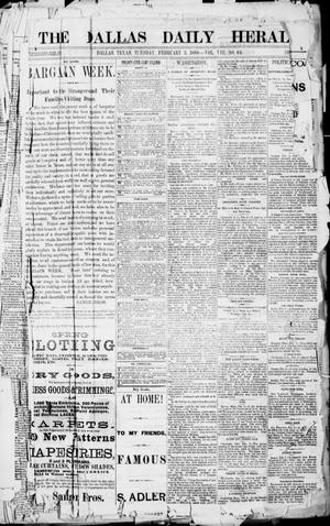 Primary view of object titled 'The Dallas Daily Herald. (Dallas, Tex.), Vol. 8, No. 64, Ed. 1 Tuesday, February 3, 1880'.