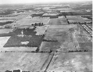 Primary view of object titled '[Aerial Photograph of a Section of Hurst, Texas #1]'.