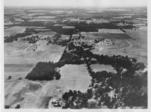 Primary view of object titled '[Aerial Photograph of a Section of Hurst, Texas #2]'.