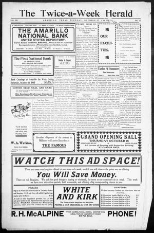 The Twice-a-Week Herald. (Amarillo, Tex.), Vol. 20, No. 31, Ed. 1 Tuesday, October 17, 1905