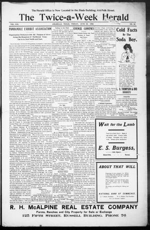 The Twice-a-Week Herald. (Amarillo, Tex.), Vol. 21, No. 50, Ed. 1 Friday, June 22, 1906