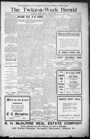The Twice-a-Week Herald. (Amarillo, Tex.), Vol. 21, No. 52, Ed. 1 Friday, June 29, 1906