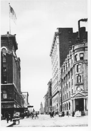 Primary view of object titled 'Looking South on Houston Street from Ninth Street'.