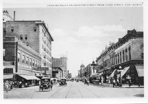 Primary view of object titled 'Looking South on Houston Street from Third Street'.