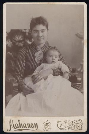 Primary view of object titled '[Cora Sardin's Mother With Baby]'.