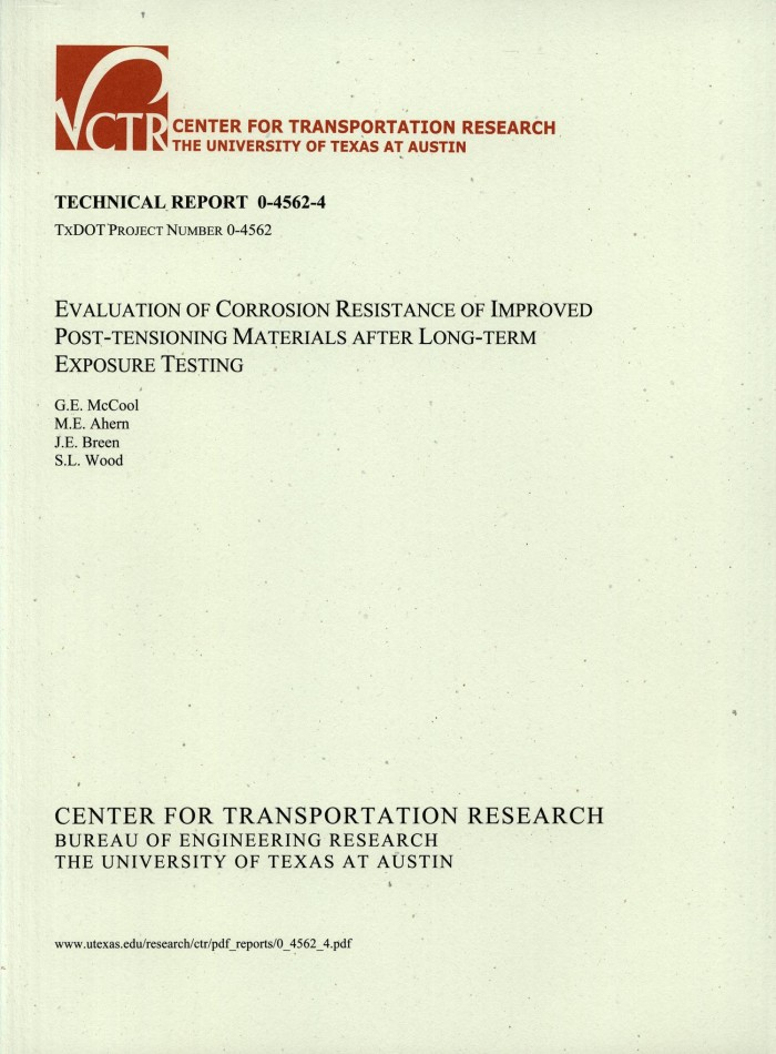 Evaluation of corrosion resistance of improved post