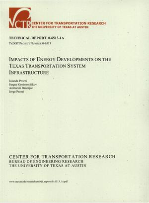 Primary view of object titled 'Impacts of energy developments on the Texas Transportation System infrastructure'.