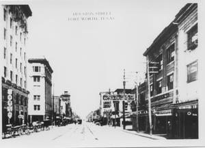 Primary view of object titled 'Houston Street around 1900'.