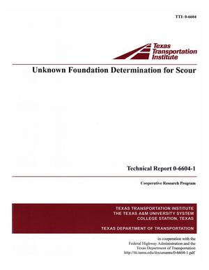 Unknown foundation determination for scour