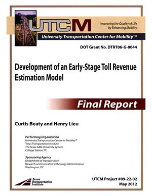 Primary view of object titled 'Development of an early-stage toll revenue estimation model'.