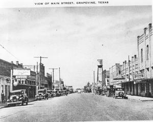 Primary view of object titled 'Main Street in Grapevine, Early 1900's'.