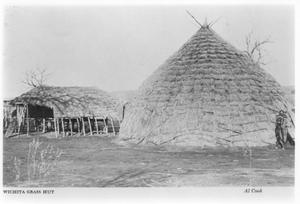 Primary view of object titled 'Wichita Indian Grass Hut'.