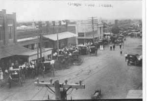 Primary view of object titled 'Main Street in Grapevine Around 1900'.
