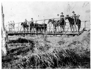 Primary view of object titled 'Men on Horseback on a Bridge'.