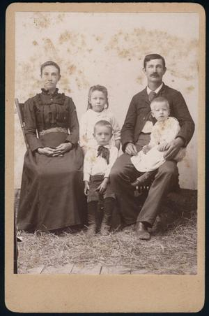 Primary view of object titled '[Will Rice with Wife and Children]'.
