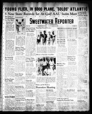 Primary view of object titled 'Sweetwater Reporter (Sweetwater, Tex.), Vol. 41, No. 90, Ed. 1 Monday, July 18, 1938'.