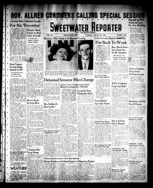 Primary view of object titled 'Sweetwater Reporter (Sweetwater, Tex.), Vol. 41, No. 121, Ed. 1 Tuesday, August 23, 1938'.