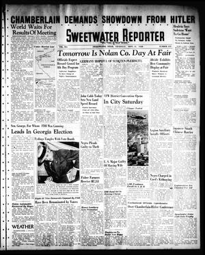 Primary view of object titled 'Sweetwater Reporter (Sweetwater, Tex.), Vol. 41, No. 135, Ed. 1 Thursday, September 15, 1938'.