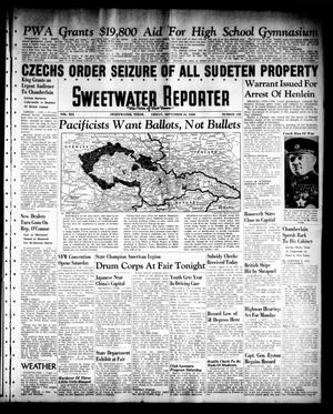Primary view of object titled 'Sweetwater Reporter (Sweetwater, Tex.), Vol. 41, No. 135, Ed. 1 Friday, September 16, 1938'.