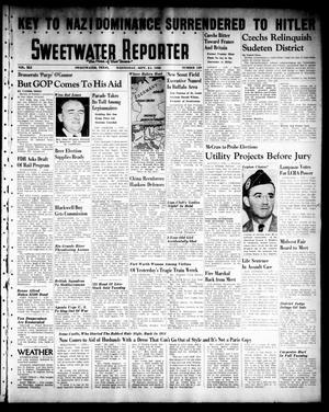 Primary view of object titled 'Sweetwater Reporter (Sweetwater, Tex.), Vol. 41, No. 139, Ed. 1 Wednesday, September 21, 1938'.