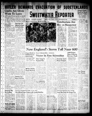 Sweetwater Reporter (Sweetwater, Tex.), Vol. 41, No. 141, Ed. 1 Sunday, September 25, 1938