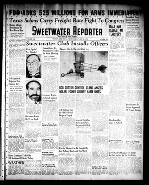 Primary view of object titled 'Sweetwater Reporter (Sweetwater, Tex.), Vol. 41, No. 229, Ed. 1 Thursday, January 12, 1939'.
