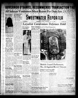 Primary view of object titled 'Sweetwater Reporter (Sweetwater, Tex.), Vol. 41, No. 232, Ed. 1 Wednesday, January 18, 1939'.