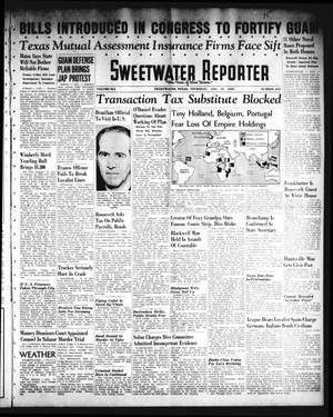 Primary view of object titled 'Sweetwater Reporter (Sweetwater, Tex.), Vol. 41, No. 233, Ed. 1 Thursday, January 19, 1939'.