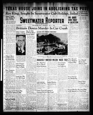 Primary view of object titled 'Sweetwater Reporter (Sweetwater, Tex.), Vol. 41, No. 242, Ed. 1 Wednesday, February 1, 1939'.