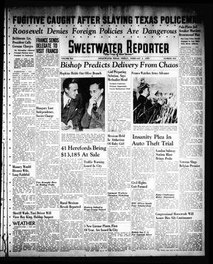 Primary view of object titled 'Sweetwater Reporter (Sweetwater, Tex.), Vol. 41, No. 244, Ed. 1 Friday, February 3, 1939'.