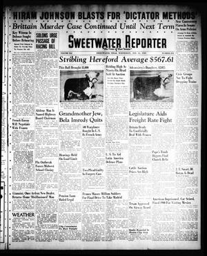 Primary view of object titled 'Sweetwater Reporter (Sweetwater, Tex.), Vol. 41, No. 253, Ed. 1 Wednesday, February 15, 1939'.
