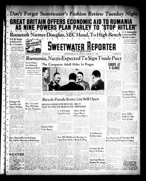 Primary view of object titled 'Sweetwater Reporter (Sweetwater, Tex.), Vol. 41, No. 282, Ed. 1 Monday, March 20, 1939'.