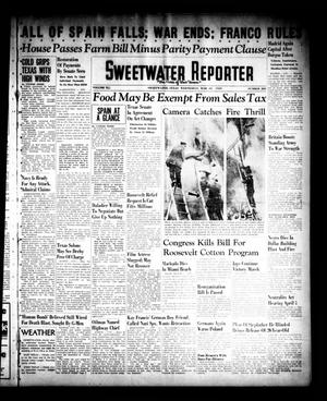 Primary view of object titled 'Sweetwater Reporter (Sweetwater, Tex.), Vol. 41, No. 289, Ed. 1 Wednesday, March 29, 1939'.